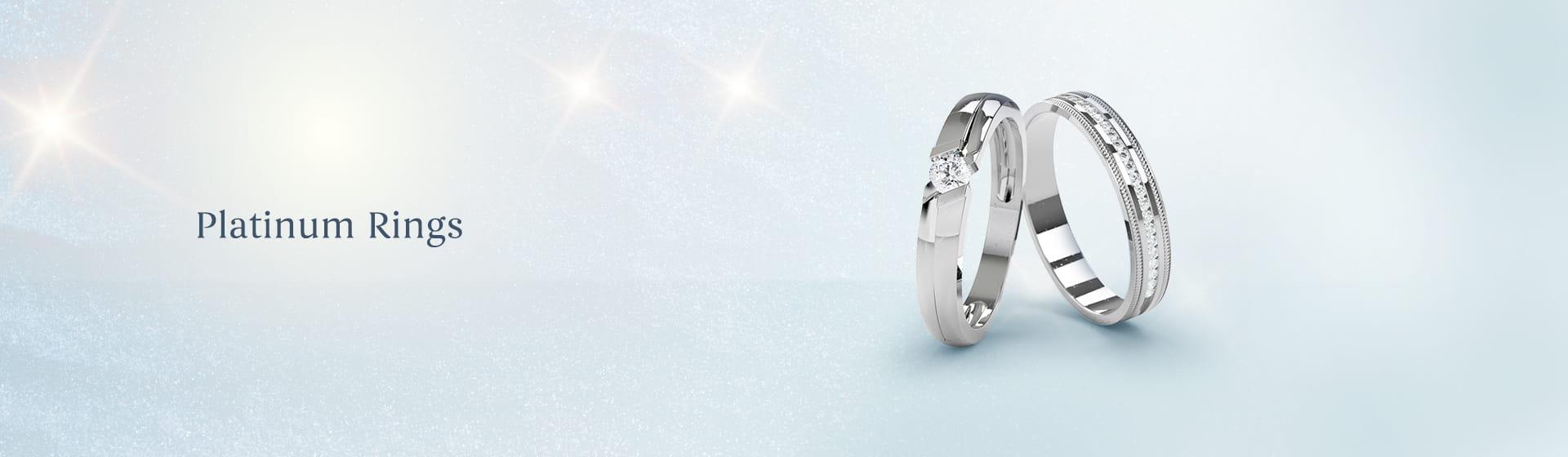Daily wear platinum engagement Rings for women & men