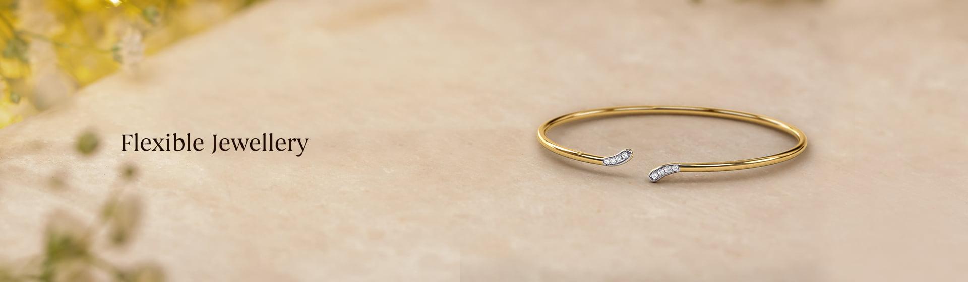 Best diamond & gold plated Flexible Bracelet for women and girls