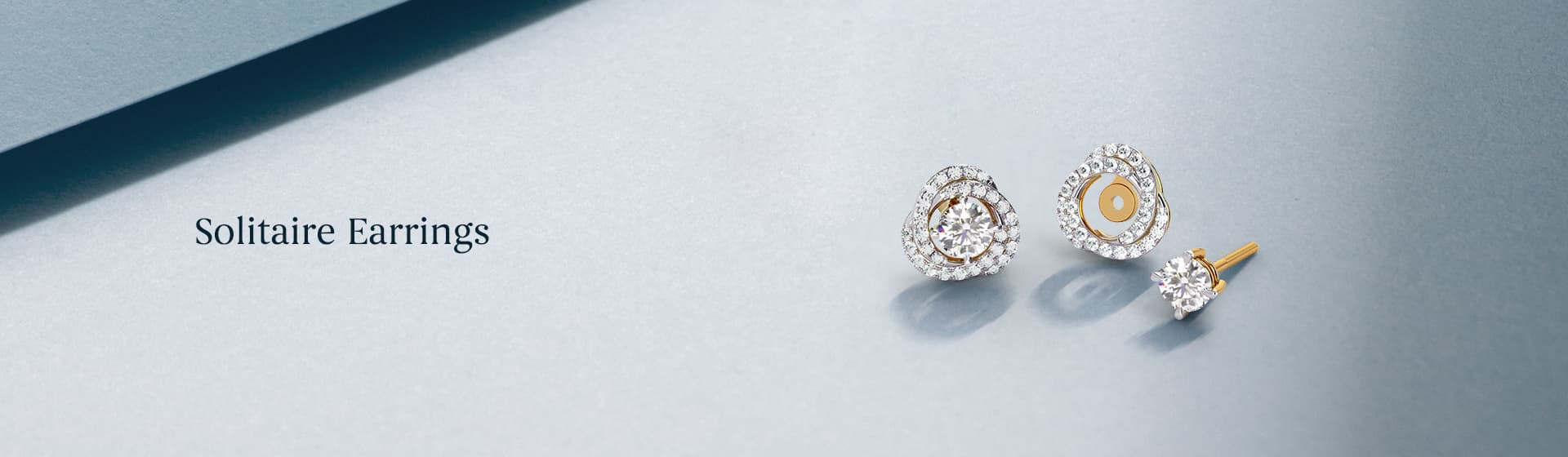 Top collections of single stone solitaire diamond stud Earrings online