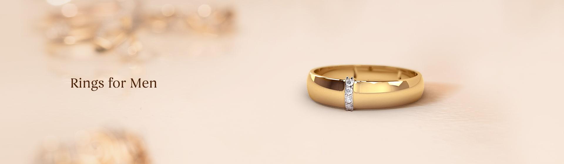Latest engagement Rings for men in gold & diamond