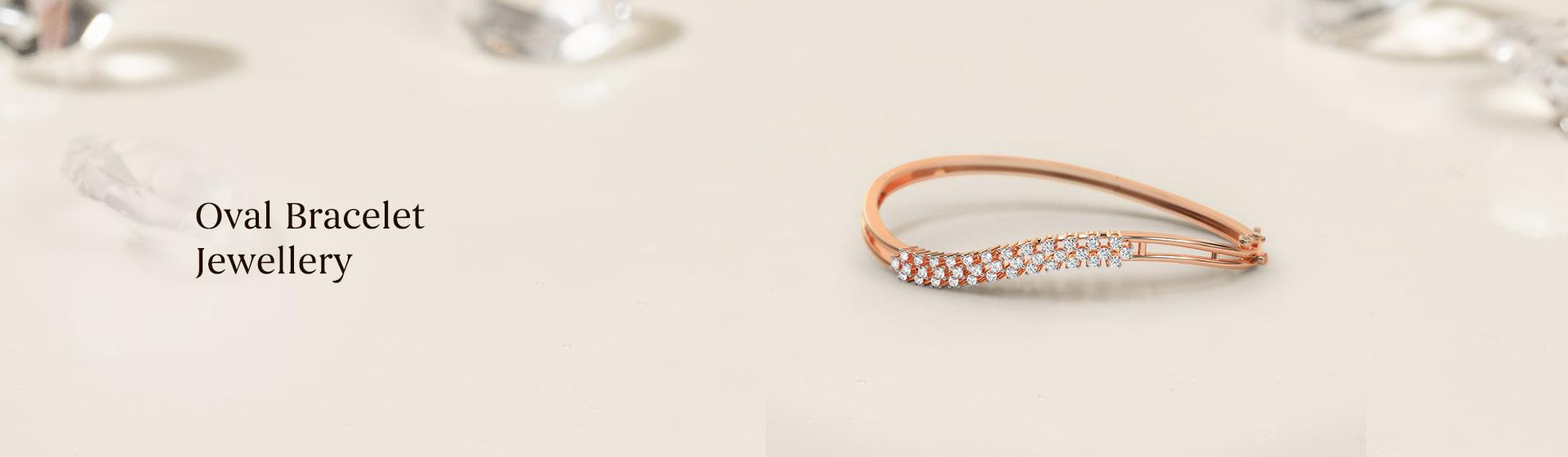 Latest oval diamond Bracelets for women
