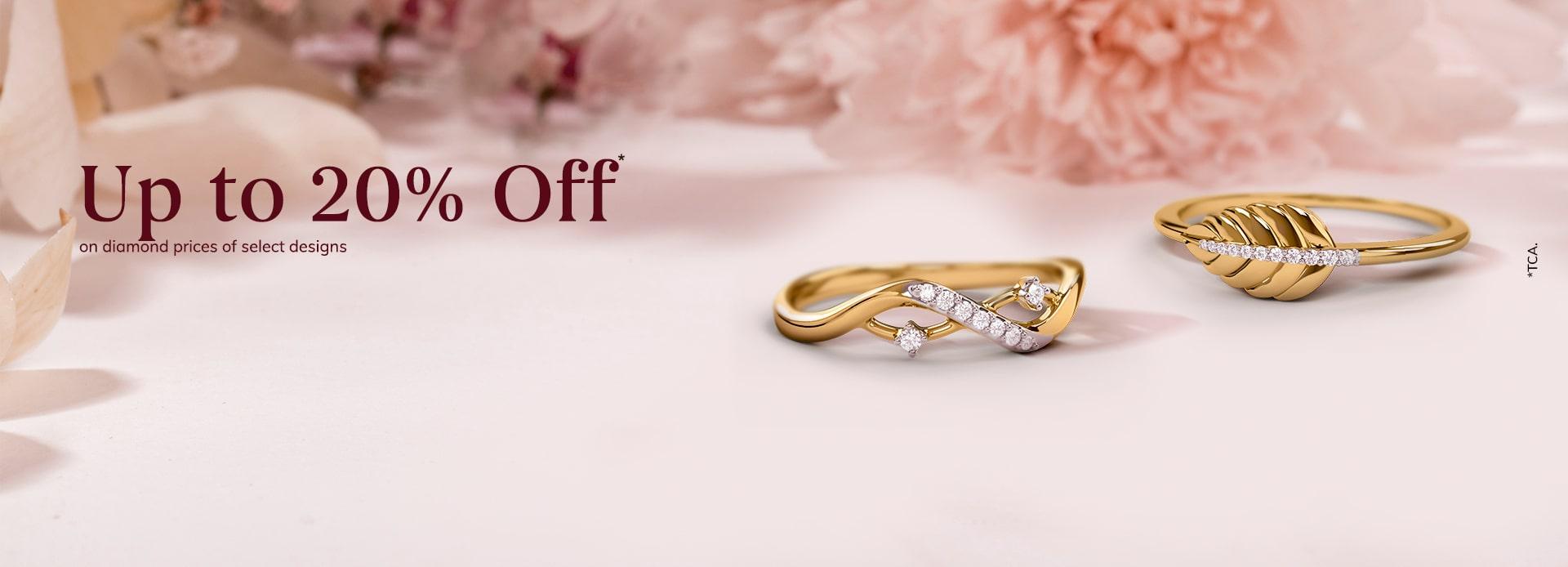 Up to 20% off on diamond prices