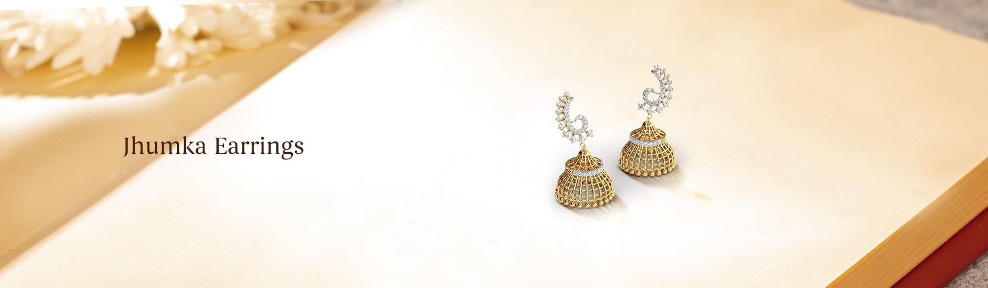 Light & heavy weight ladies wearing Jhumka Earrings designs online